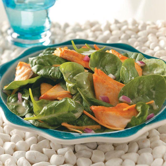 Glazed Salmon Salad