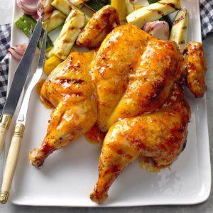 Glazed Spatchcocked Chicken