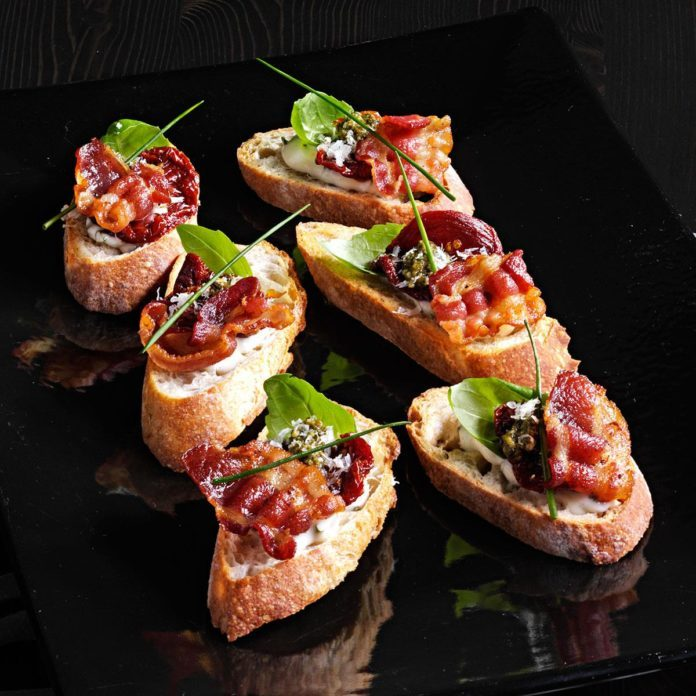 Sun-Dried Tomato BLT Crostini