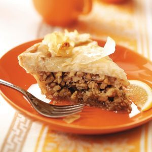 Greek Honey Nut Pie
