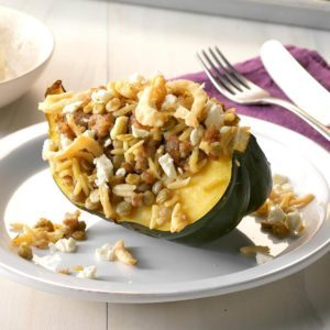Greek-Style Stuffed Acorn Squash