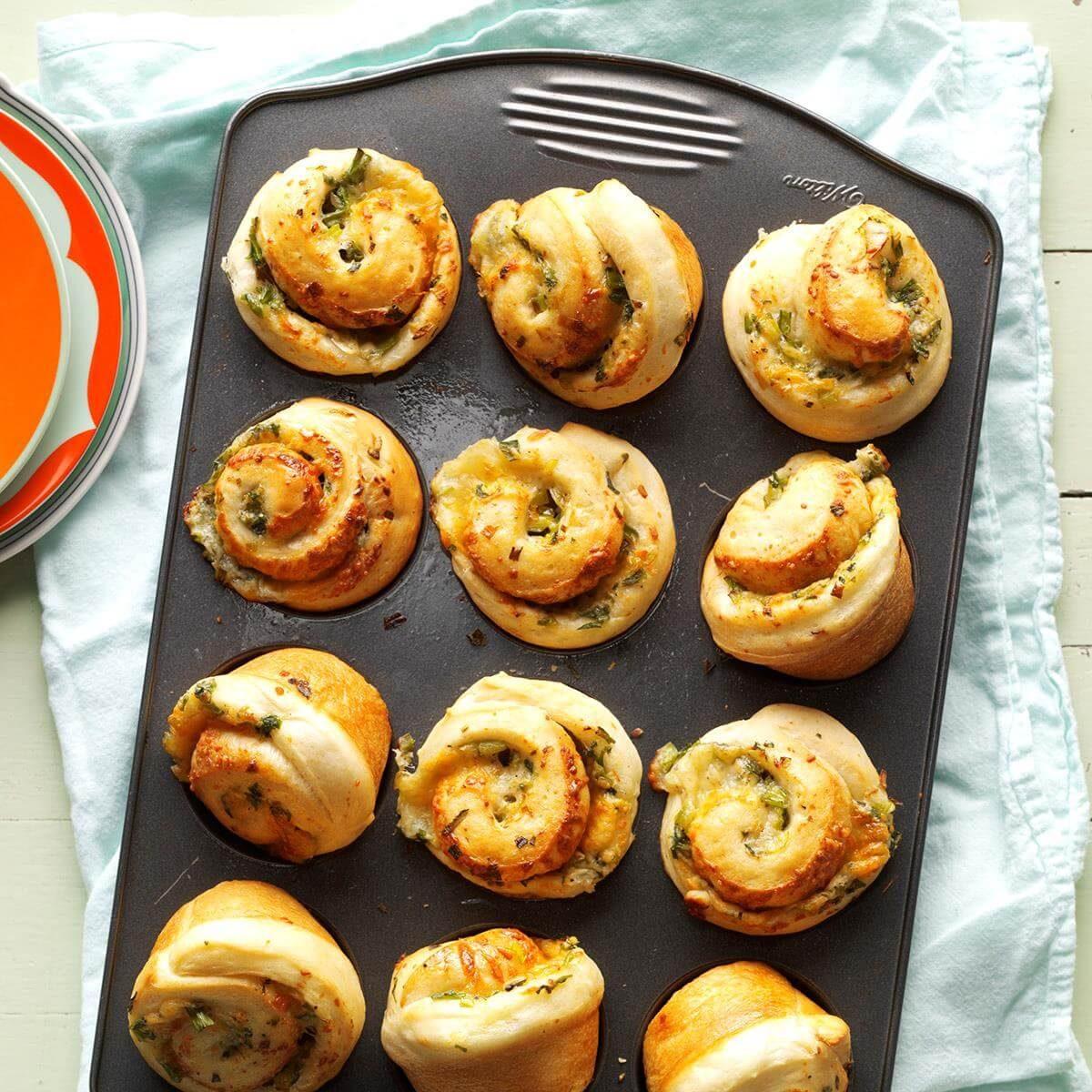 Green Onion Rolls Recipe   Taste of Home