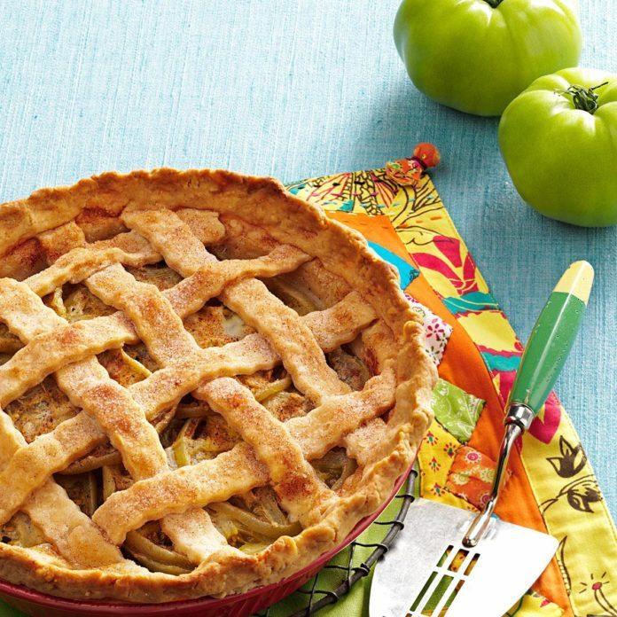 Green Tomatoes: Green Tomato Lattice Pie