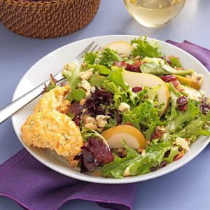 Greens with Bacon & Cranberries