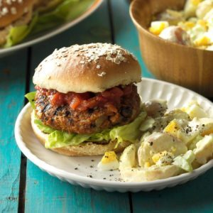 Grilled Bean Burgers