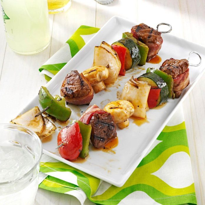 South Dakota: Grilled Beef Kabobs
