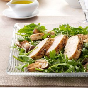 Grilled Chicken with Arugula Salad