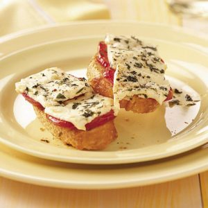 Grilled Greek Crostini Topping