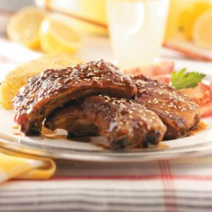Grilled Maple-Glazed Spareribs