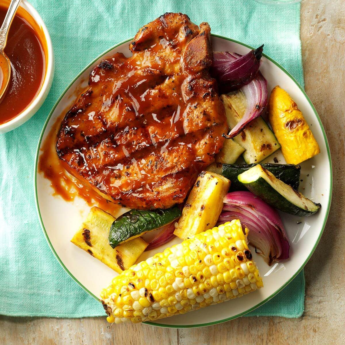 Grilled Pork Chops With Smokin' Sauce Recipe