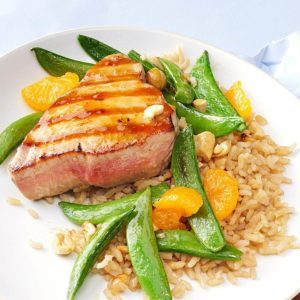 Grilled Sesame Orange Tuna Steaks