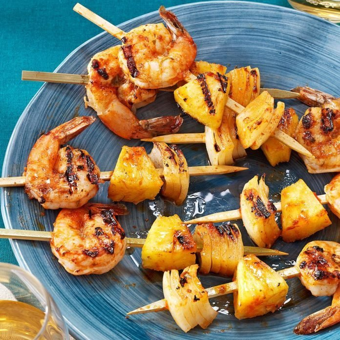 Grilled Shrimp Appetizer Kabobs