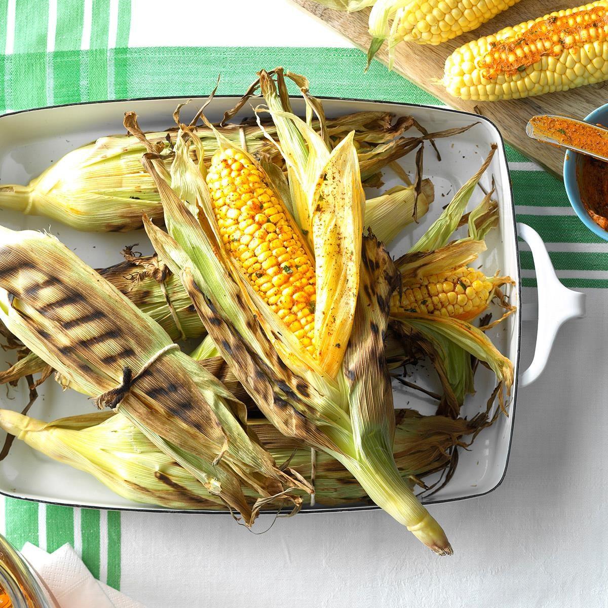 Grilled Sweet Corn Recipe   Taste of Home