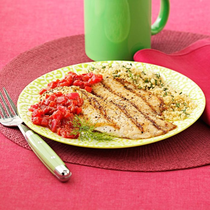 Grilled Tilapia with Raspberry Chipotle Chutney
