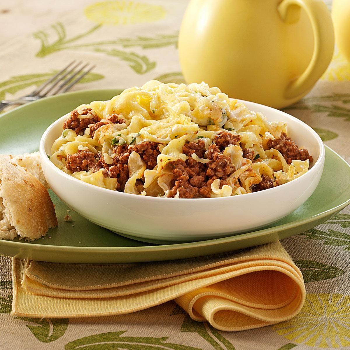 ground beef noodle bake recipe  taste of home