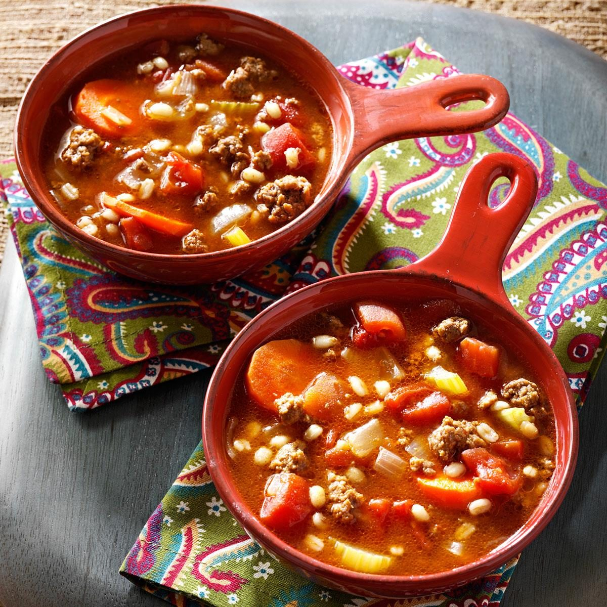ground beef and barley soup recipe taste of home