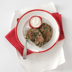 Gyro Meat Loaf with Tzatziki Sauce