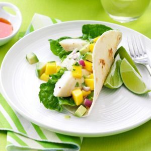 Delicious mango recipes for any time of the day taste of for Halibut fish tacos