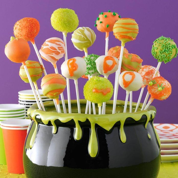 Halloween Cheesecake Pops