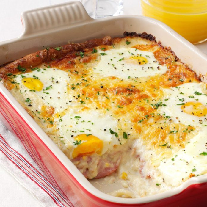 Ham, Egg & Cheese Casserole