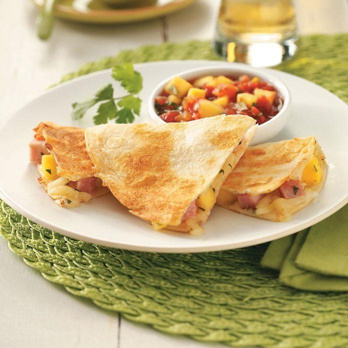Ham & Mango Quesadillas