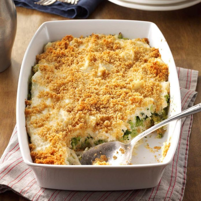Sides: Hash Brown Broccoli Bake