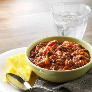 Hearty Pumpkin Chili with Polenta
