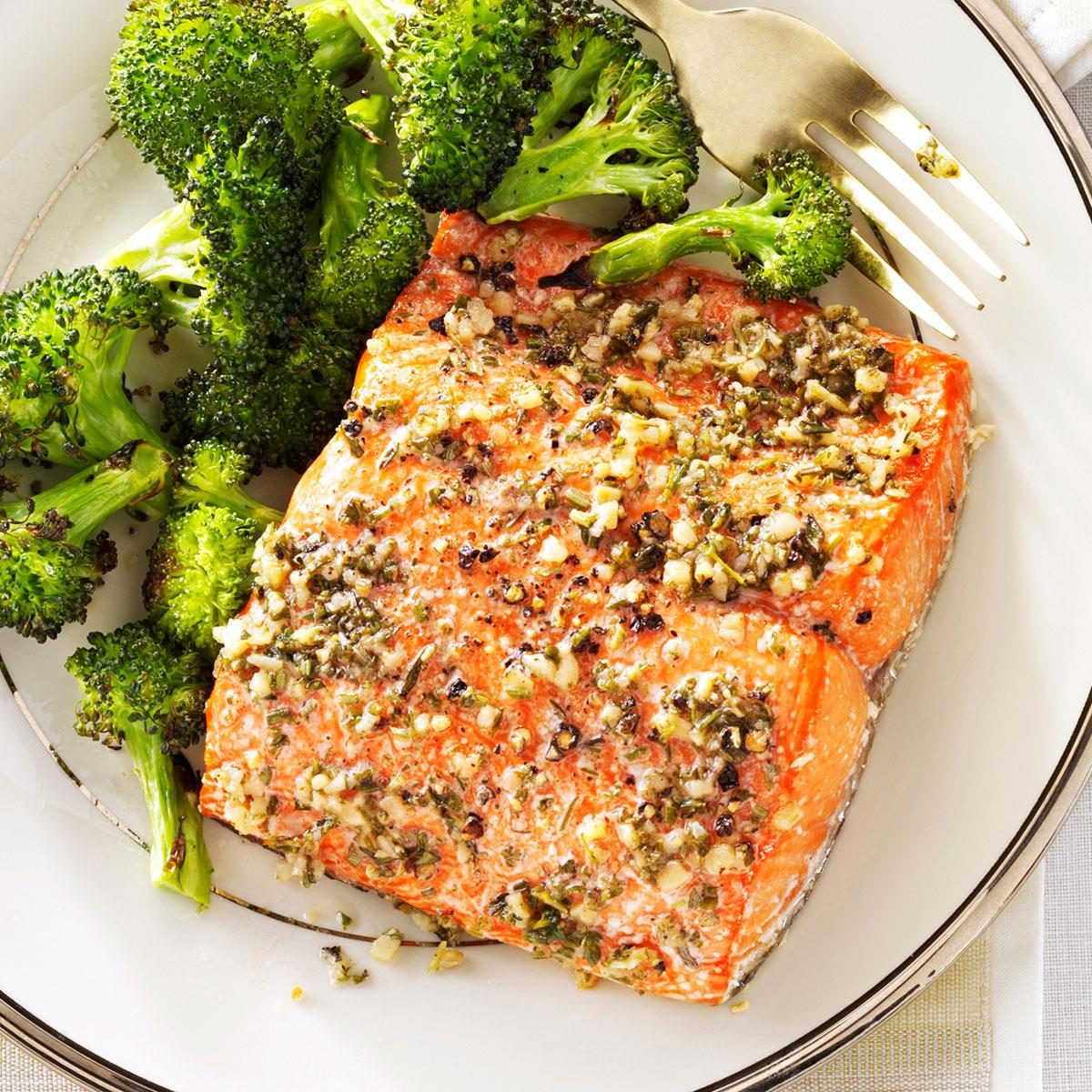 Herb Roasted Salmon Fillets Recipe Taste Of Home