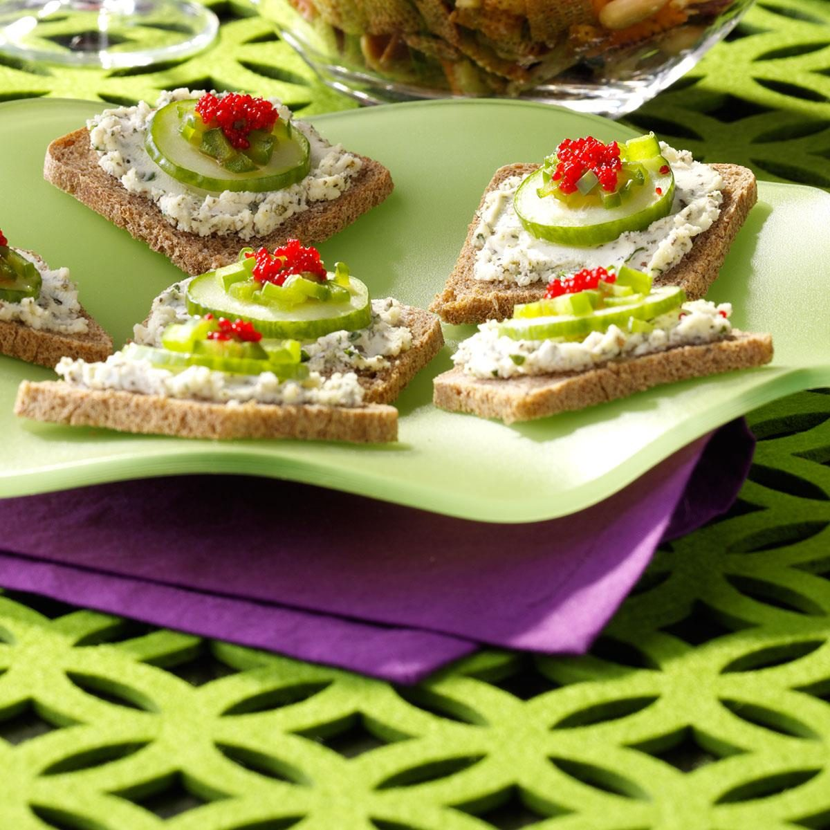 herbed cheese canapes recipe taste of home - Canapes