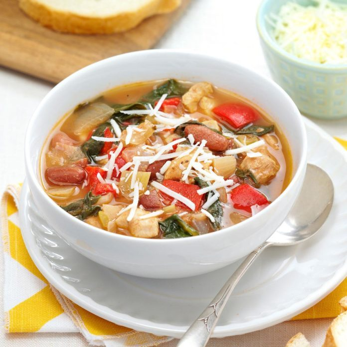 Herbed Chicken & Spinach Soup