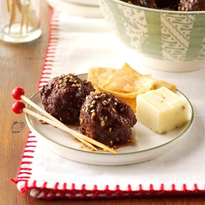 Appetizer Course: Hoisin Meatballs