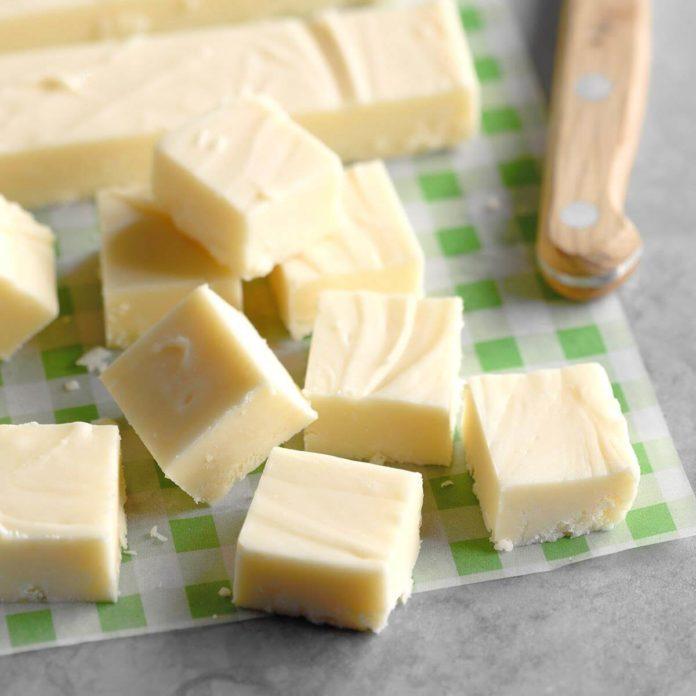 Holiday White Chocolate Fudge