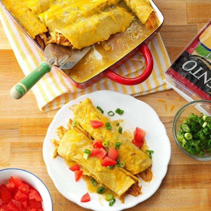 25 microwave recipes that are made in minutes taste of home honey lemon chicken enchiladas forumfinder Images