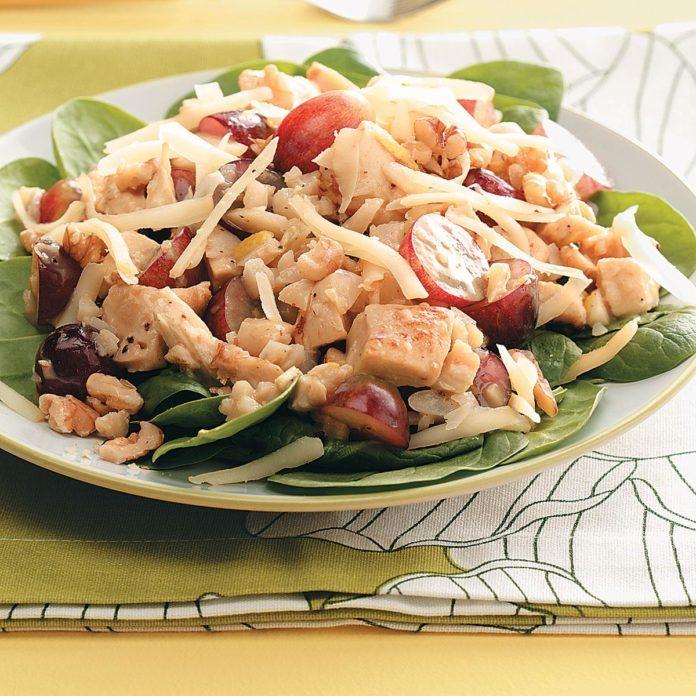 Honey-Mustard Chicken Spinach Salad Recipe