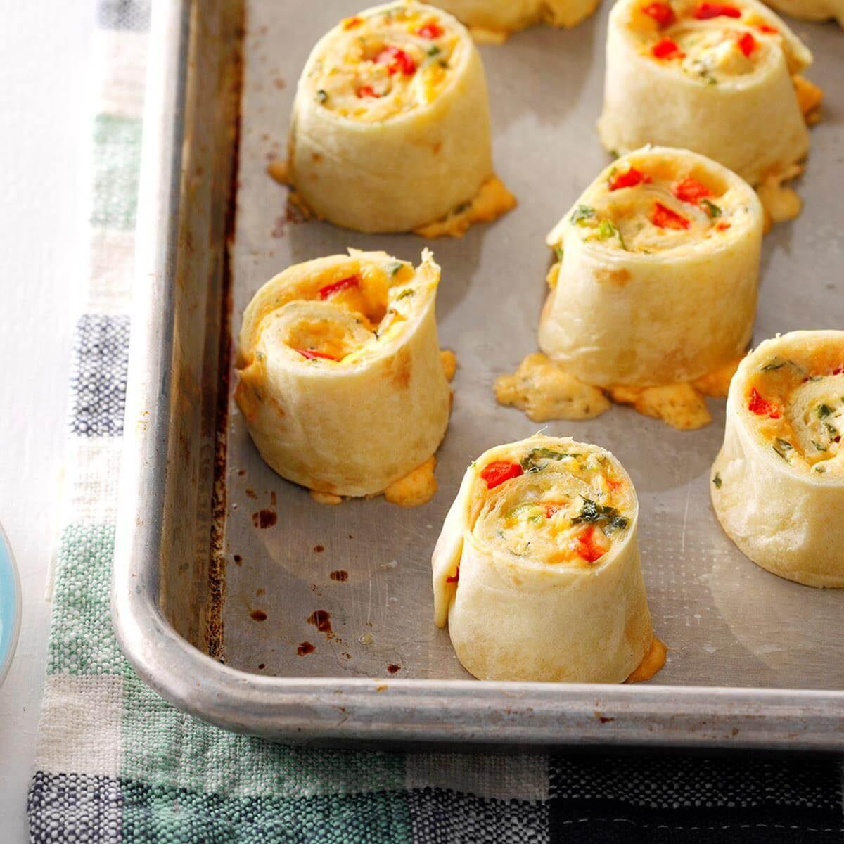 Hot Crab Pinwheels Recipe Taste Of Home