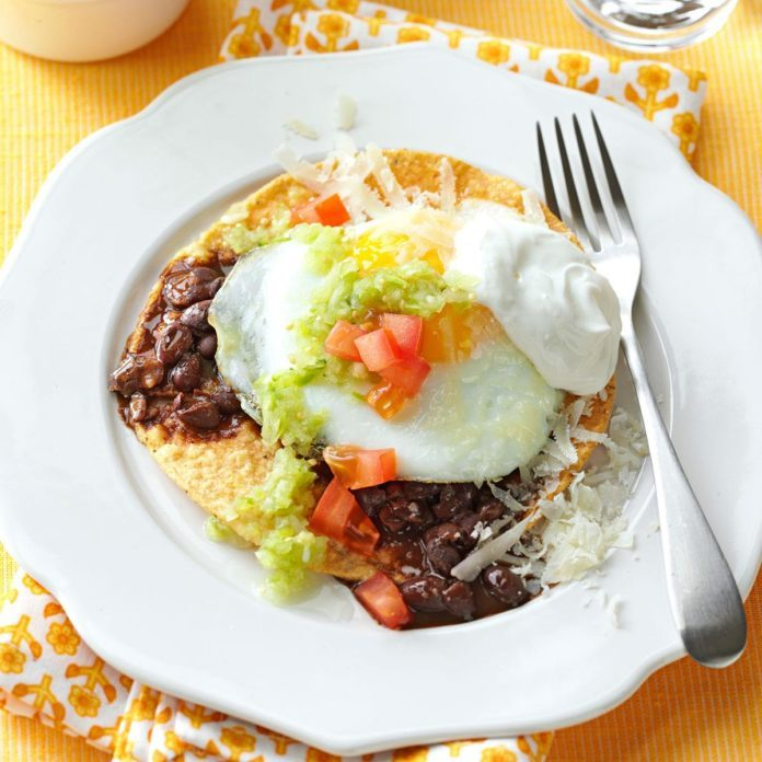 Huevos Rancheros with Tomatillo Sauce