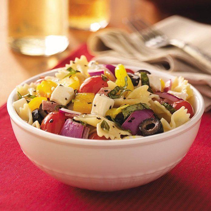 Italian Basil Pasta Salad Recipe Taste Of Home