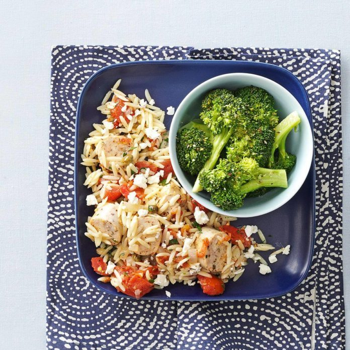 Italian Chicken Sausage and Orzo