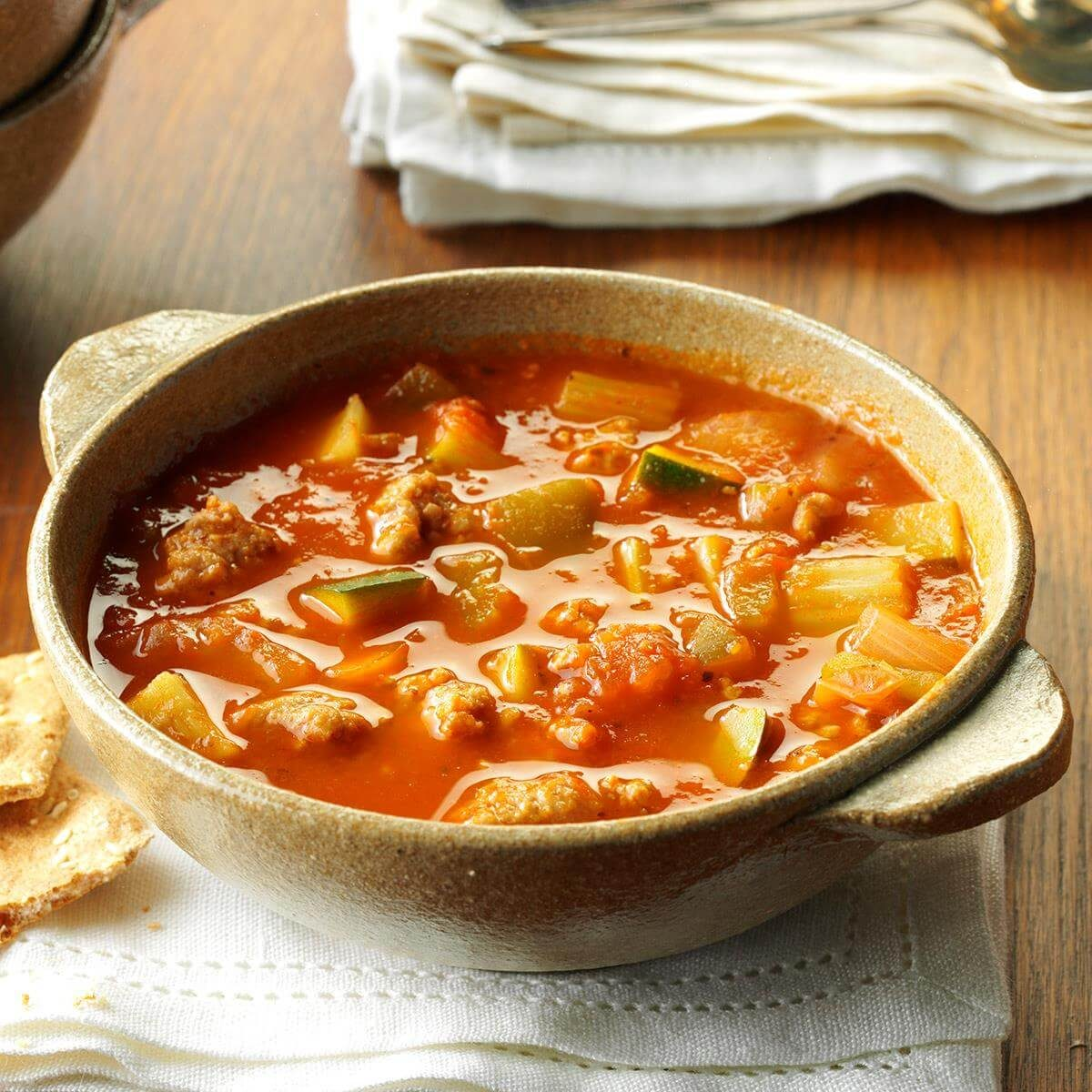 Italian Sausage Zucchini Soup Recipe Taste Of Home