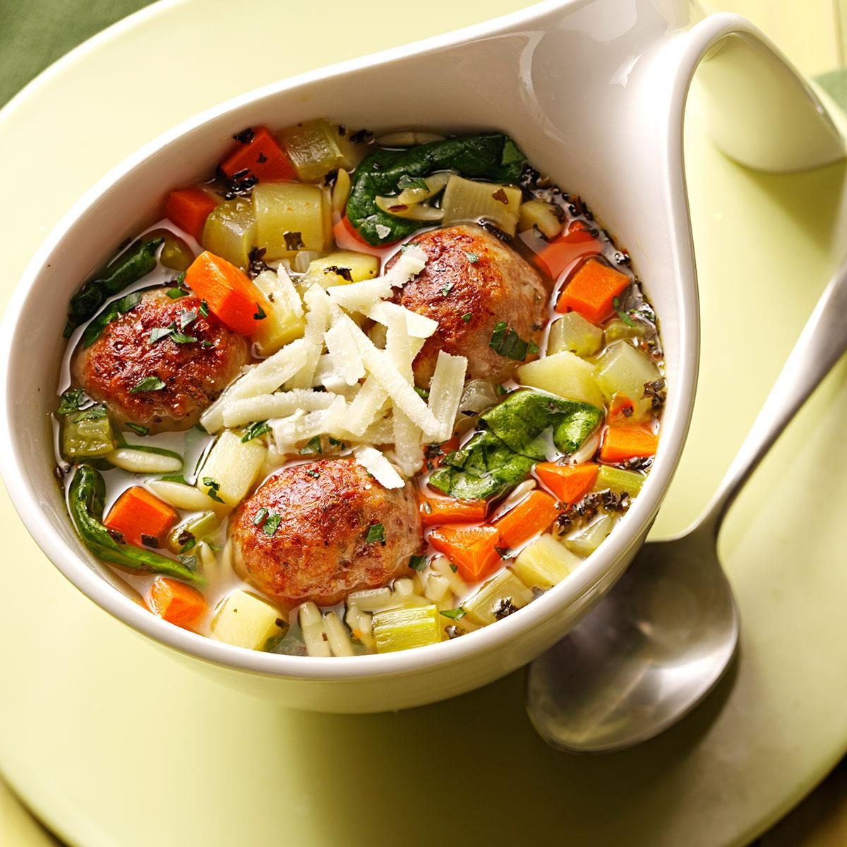 Recipe For Italian Wedding Soup: Italian Wedding Soup With Meatballs Recipe