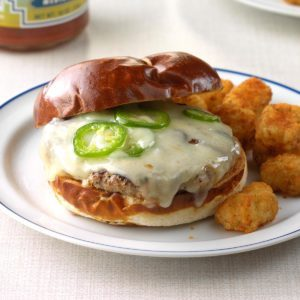 Jalapeno-Swiss Turkey Burgers