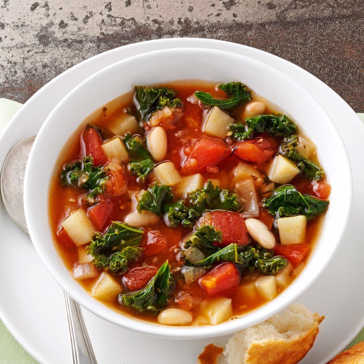 Kale Bean Soup Recipe Taste Of Home