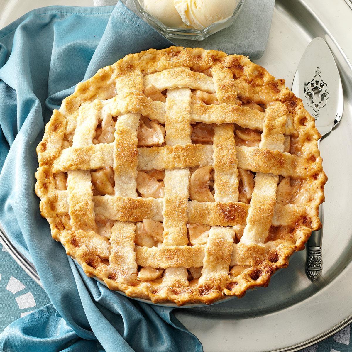 Lattice-Topped Apple Pie Recipe