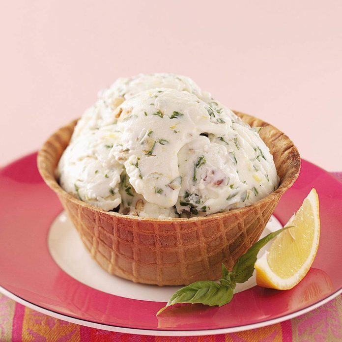 Lemon-Basil Frozen Yogurt
