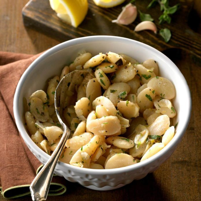 Lemon-Garlic Lima Beans