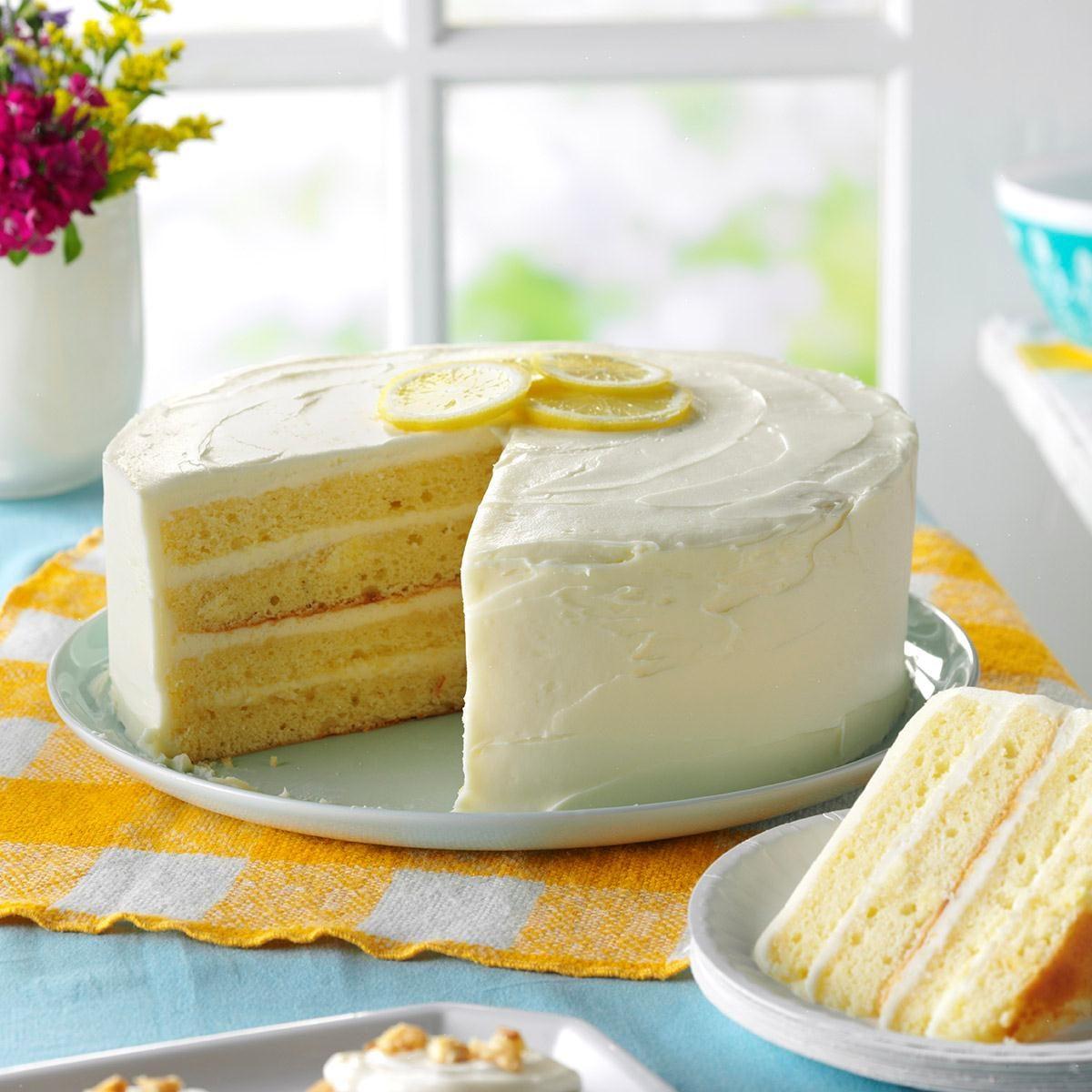 Lemon Cakes Recipes: Lemon Layer Cake Recipe