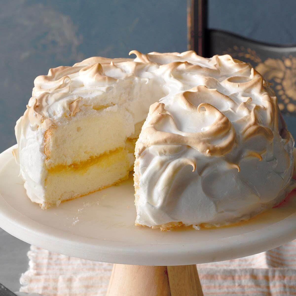 Lemon Meringue Angel Food Cake Recipe