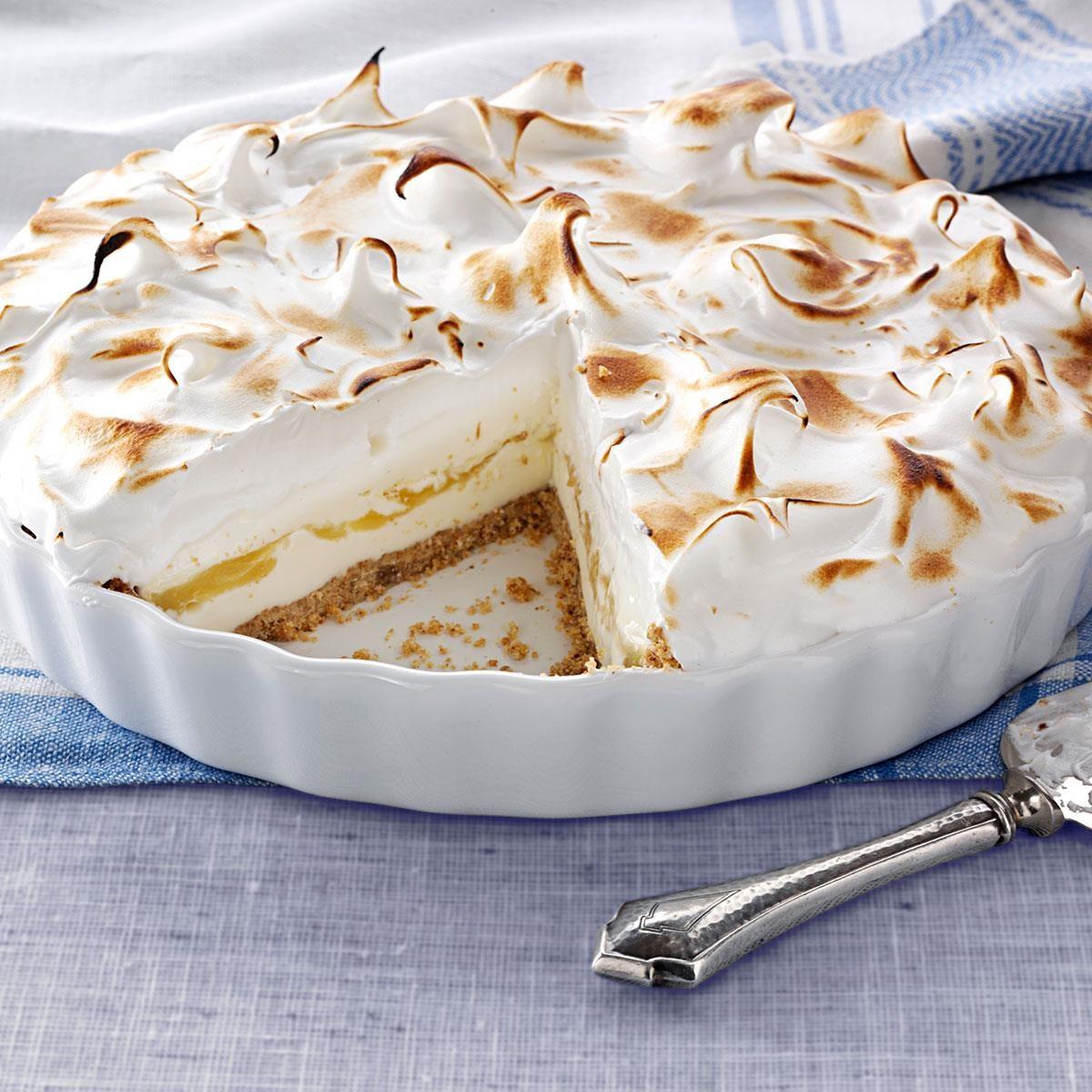 Lemon Meringue Ice Cream Pie Recipe Taste Of Home Pot Frosted Jar 10gr