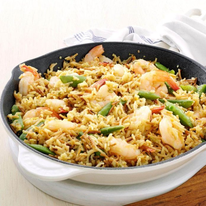 Lemon-Orange Shrimp & Rice