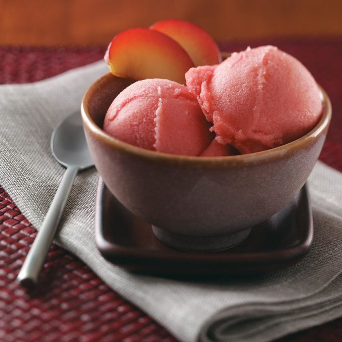 Lemon Plum Sorbet